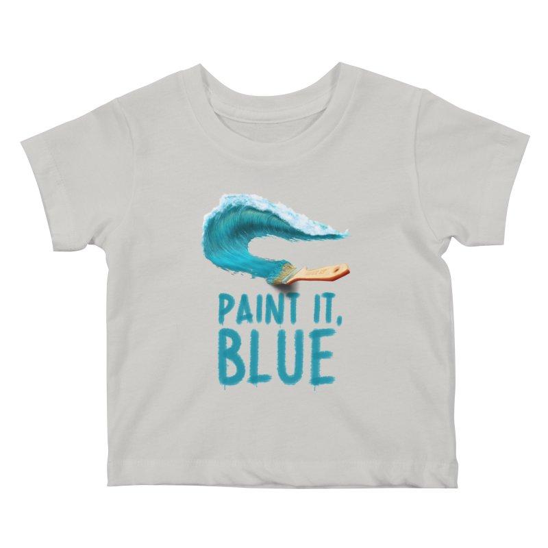 Paint It, Blue Kids Baby T-Shirt by thirteen's Artist Shop