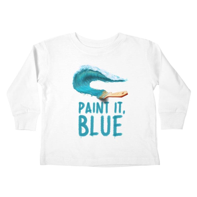 Paint It, Blue Kids Toddler Longsleeve T-Shirt by thirteen's Artist Shop