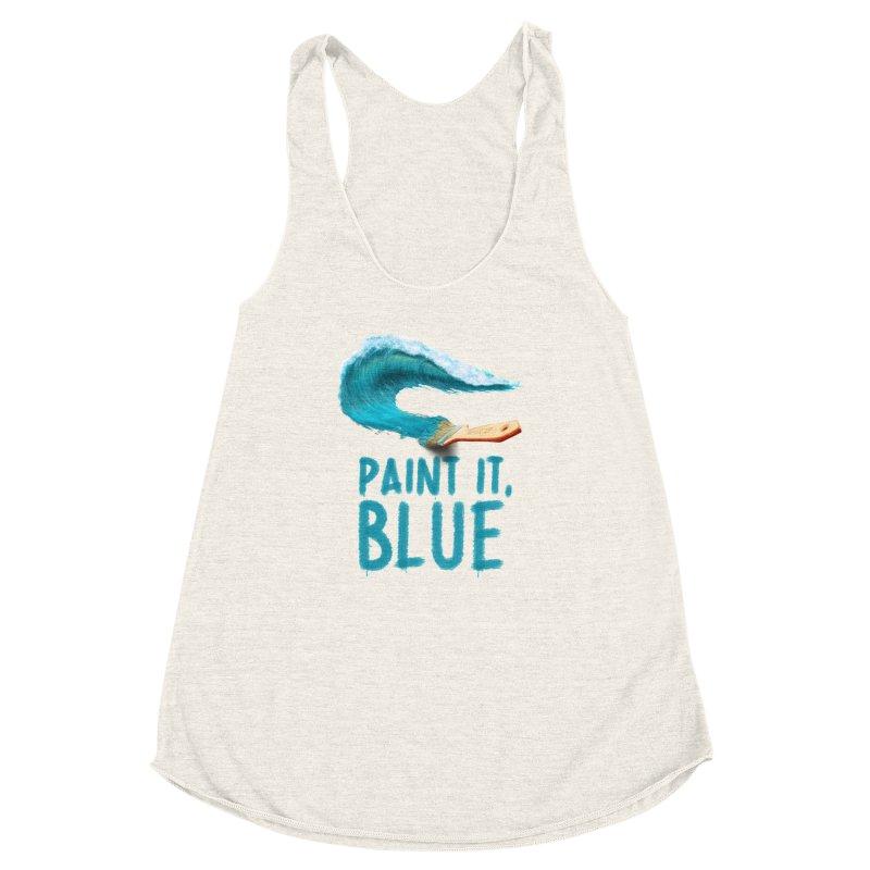 Paint It, Blue Women's Racerback Triblend Tank by thirteen's Artist Shop