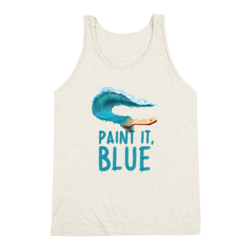 Paint It, Blue Men's Triblend Tank by Bálooie's Artist Shop