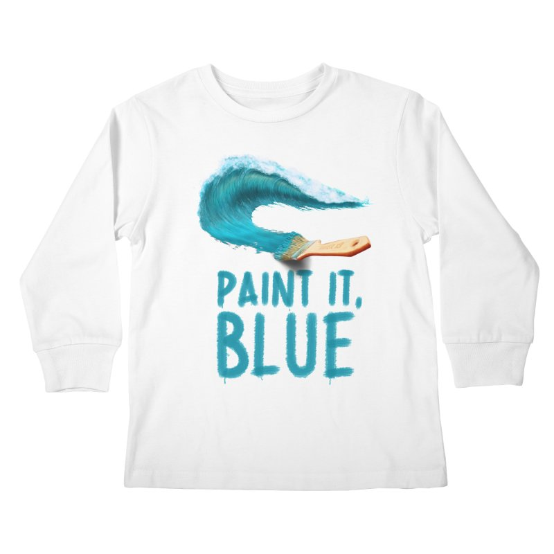 Paint It, Blue Kids Longsleeve T-Shirt by thirteen's Artist Shop