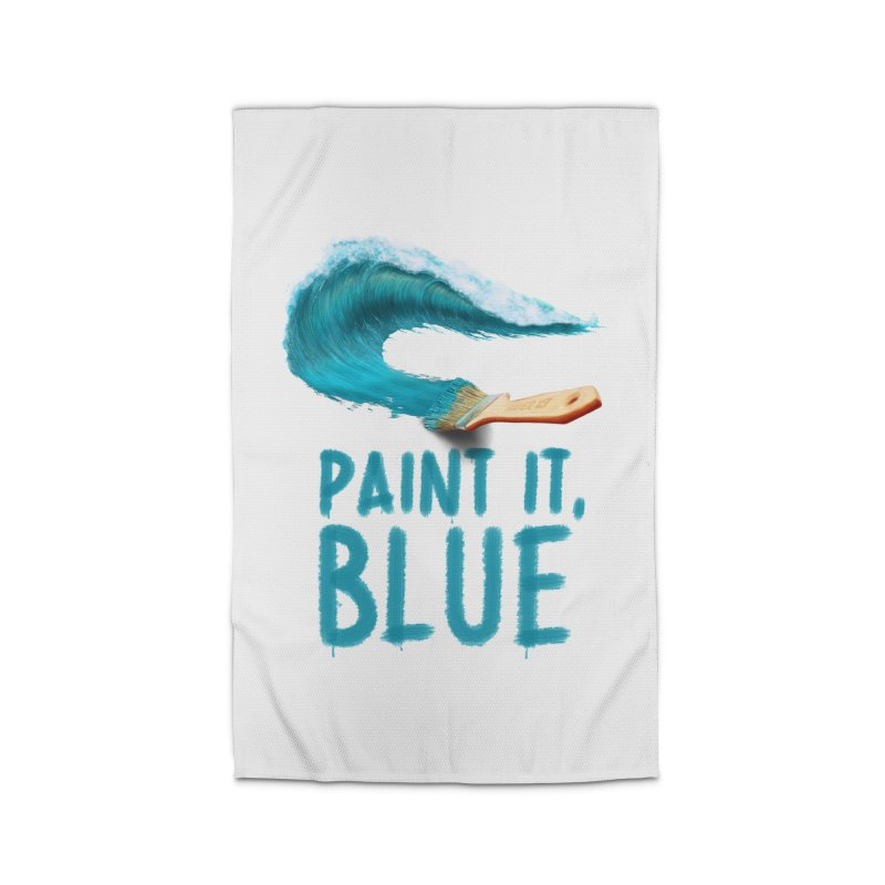 Paint It, Blue Home Rug by Bálooie's Artist Shop