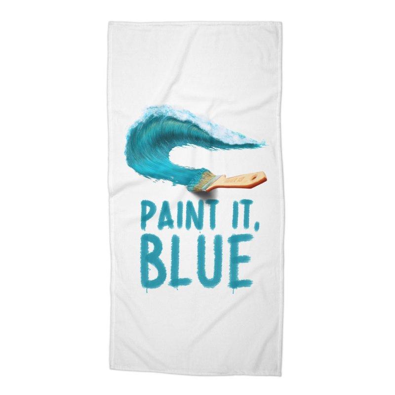 Paint It, Blue Accessories Beach Towel by thirteen's Artist Shop