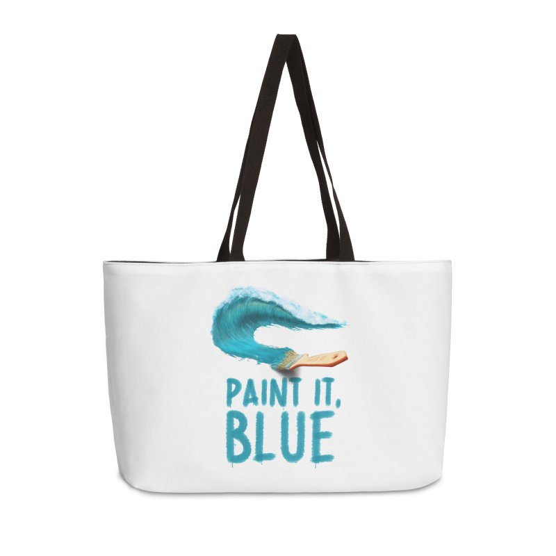 Paint It, Blue Accessories Weekender Bag Bag by Bálooie's Artist Shop
