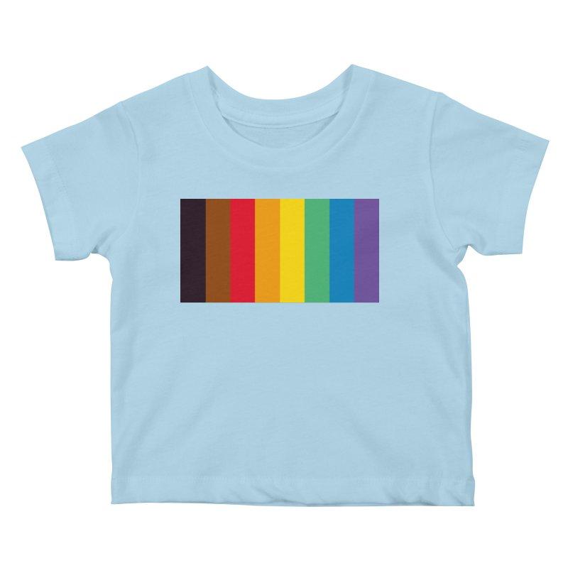 QPOC Stripe Kids Baby T-Shirt by ThisQPOCshop