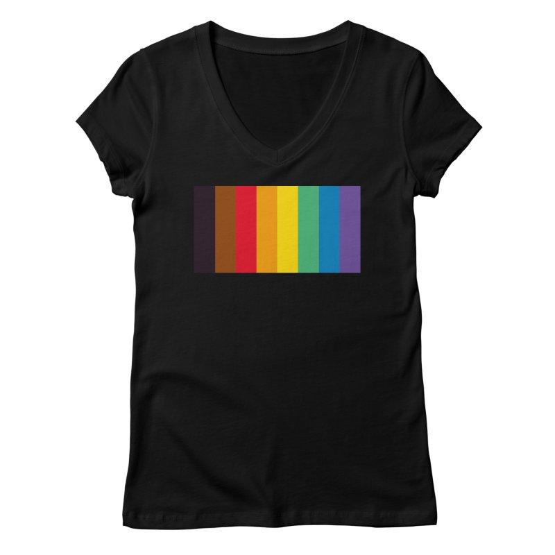 QPOC Stripe Women's V-Neck by ThisQPOCshop