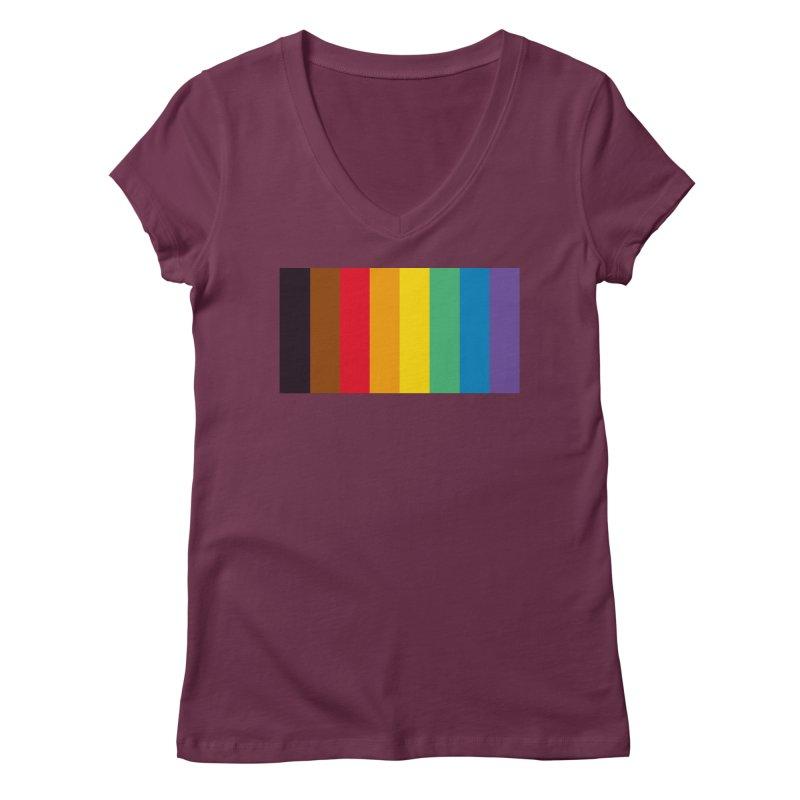 QPOC Stripe Women's Regular V-Neck by ThisQPOCshop