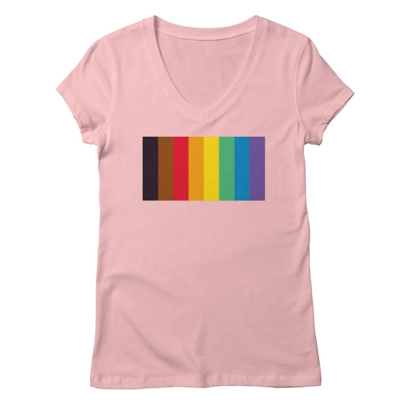 QPOC Stripe Women's Regular V-Neck by ThisQPOCshop