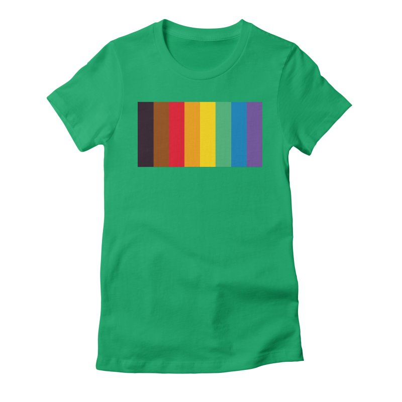 QPOC Stripe Women's Fitted T-Shirt by ThisQPOCshop