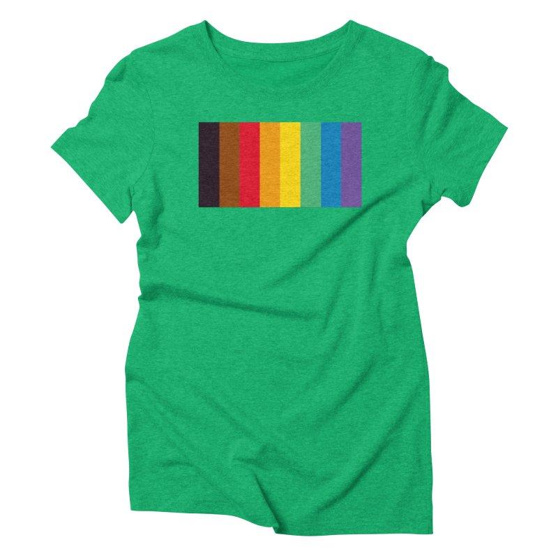 QPOC Stripe Women's Triblend T-Shirt by ThisQPOCshop