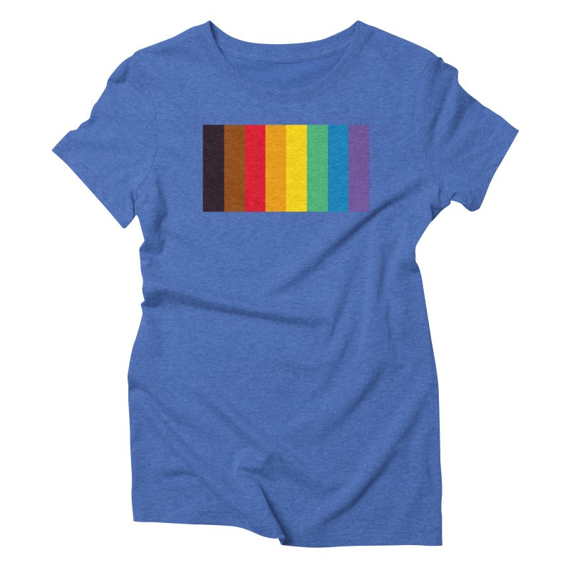 QPOC Stripe Women's Triblend T-Shirt by ThisQPOCshop