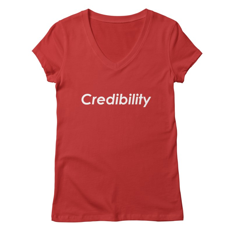 Credibility Women's Regular V-Neck by ThisQPOCshop