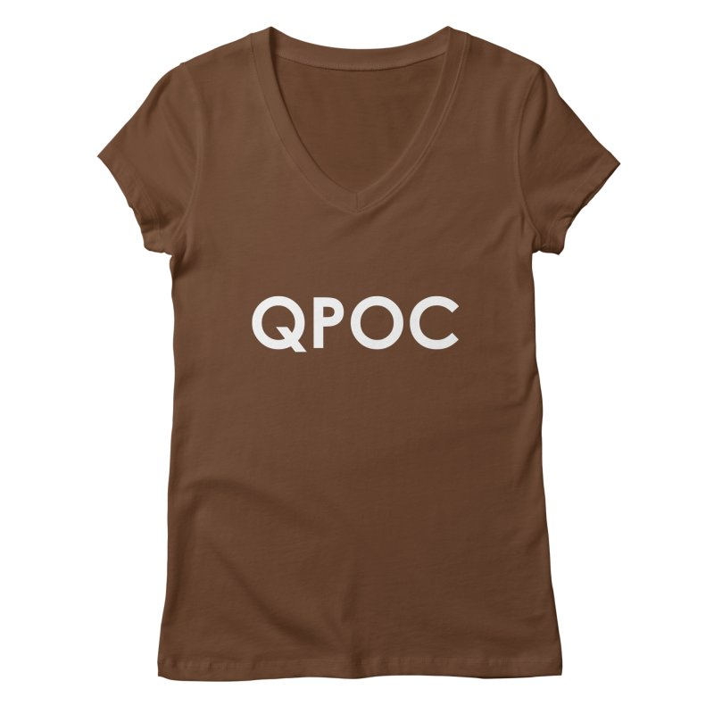 QPOC Bold Women's Regular V-Neck by ThisQPOCshop