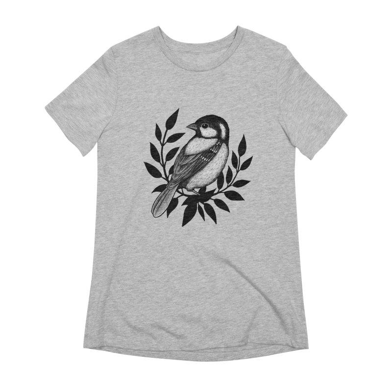 Coal Tit Women's Extra Soft T-Shirt by Thistle Moon Artist Shop