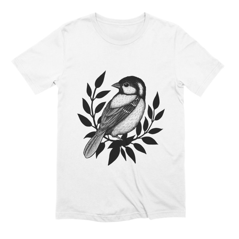Coal Tit Men's Extra Soft T-Shirt by Thistle Moon Artist Shop