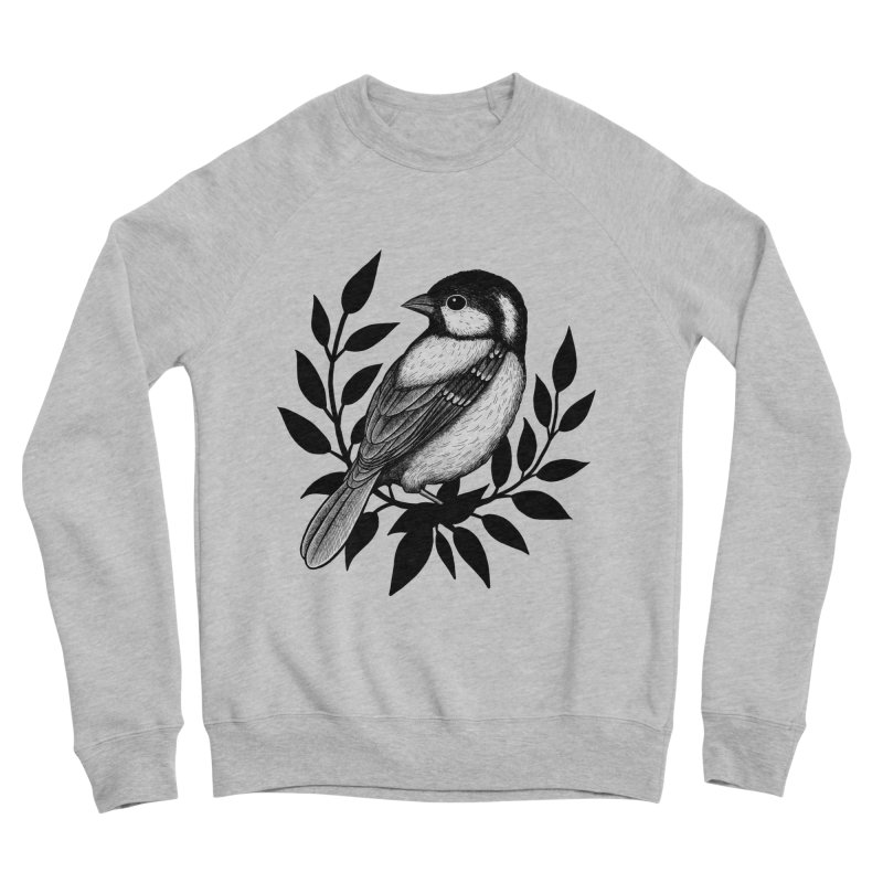 Coal Tit Men's Sponge Fleece Sweatshirt by Thistle Moon Artist Shop