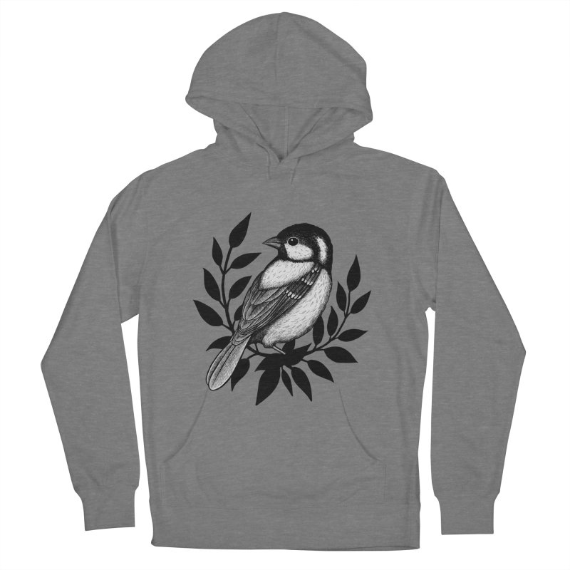 Coal Tit Men's French Terry Pullover Hoody by Thistle Moon Artist Shop