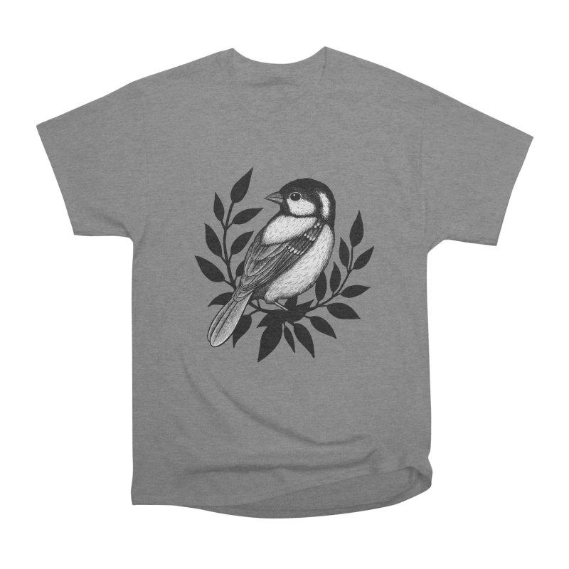 Coal Tit Men's Heavyweight T-Shirt by Thistle Moon Artist Shop