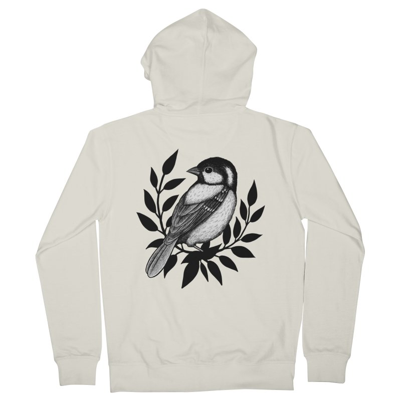 Coal Tit Women's French Terry Zip-Up Hoody by Thistle Moon Artist Shop
