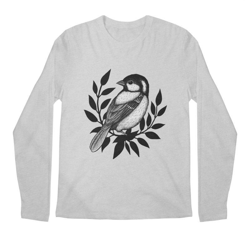 Coal Tit Men's Regular Longsleeve T-Shirt by Thistle Moon Artist Shop
