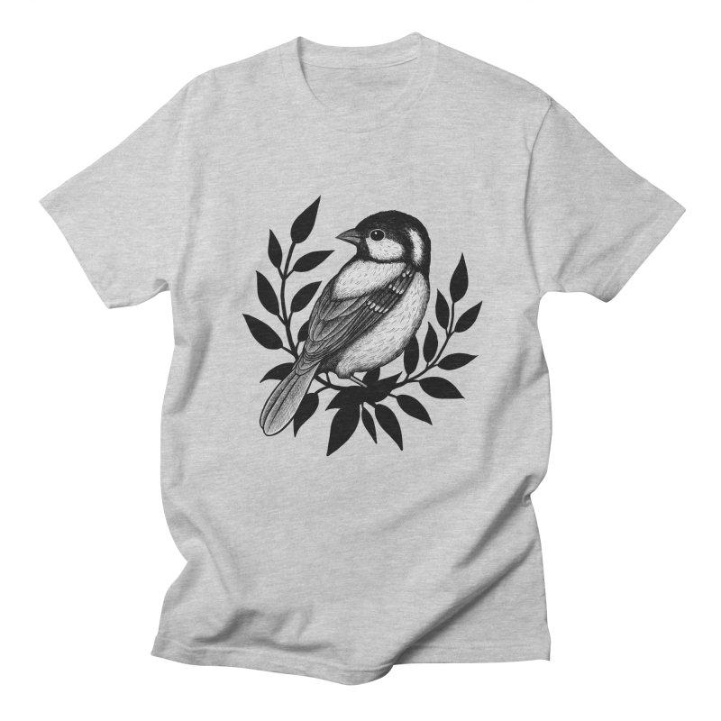 Coal Tit Men's Regular T-Shirt by Thistle Moon Artist Shop