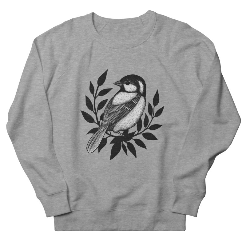 Coal Tit Women's French Terry Sweatshirt by Thistle Moon Artist Shop