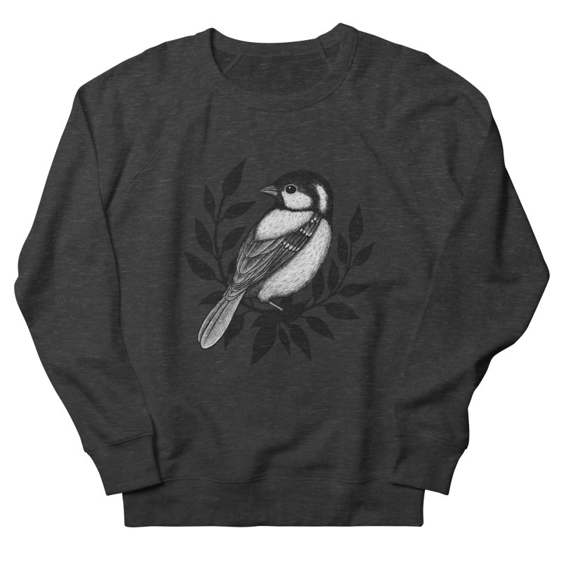 Coal Tit Men's French Terry Sweatshirt by Thistle Moon Artist Shop