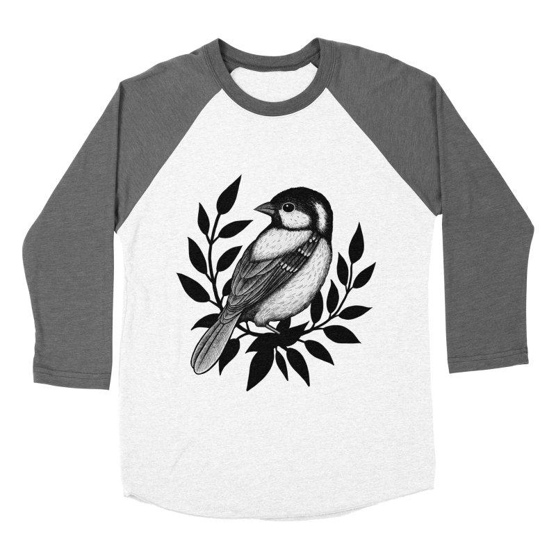 Coal Tit Men's Baseball Triblend Longsleeve T-Shirt by Thistle Moon Artist Shop