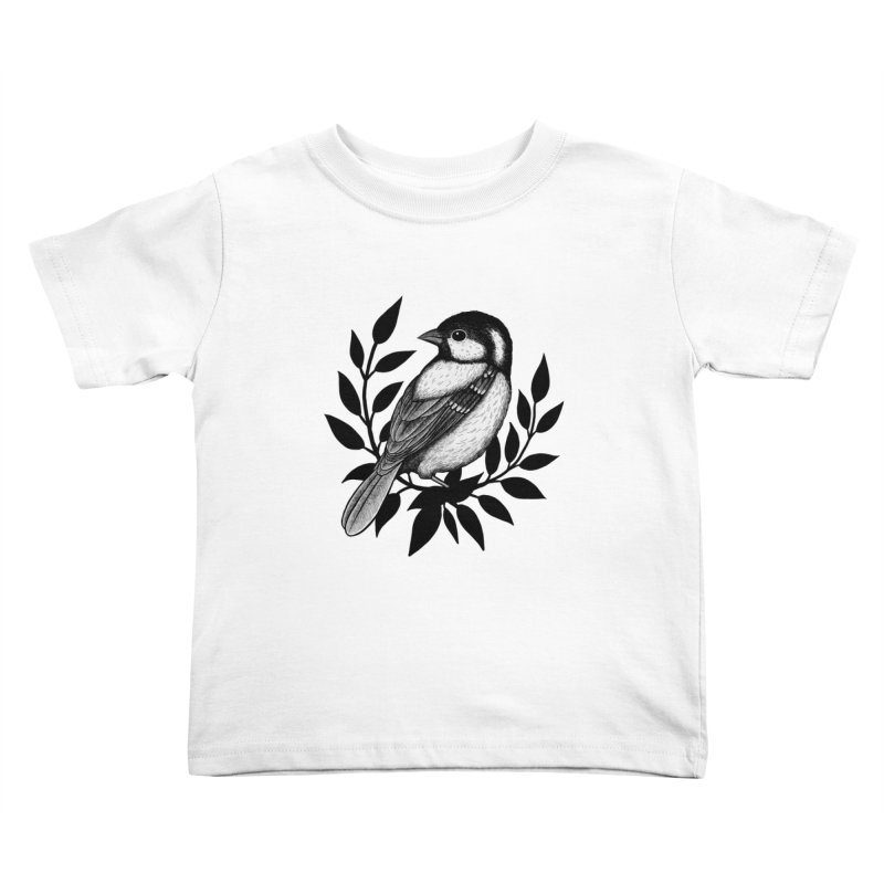 Coal Tit Kids Toddler T-Shirt by Thistle Moon Artist Shop