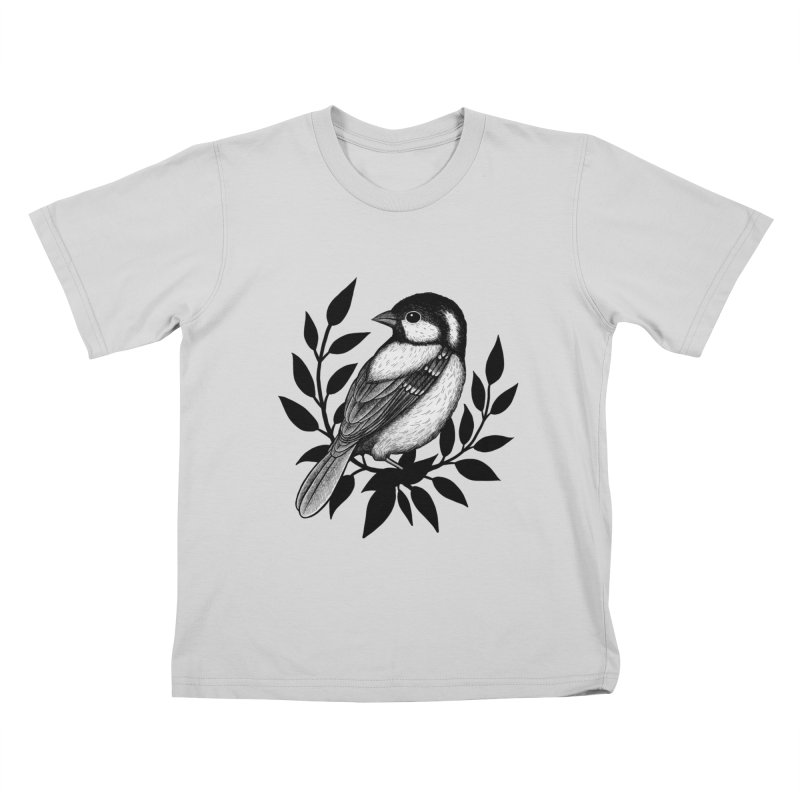Coal Tit Kids T-Shirt by Thistle Moon Artist Shop