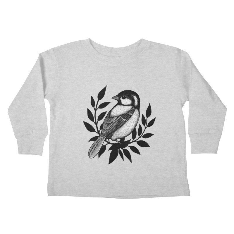 Coal Tit Kids Toddler Longsleeve T-Shirt by Thistle Moon Artist Shop