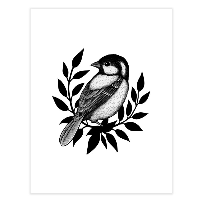 Coal Tit Home Fine Art Print by Thistle Moon Artist Shop