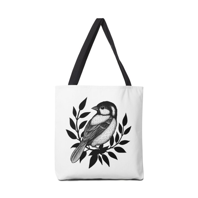 Coal Tit Accessories Tote Bag Bag by Thistle Moon Artist Shop