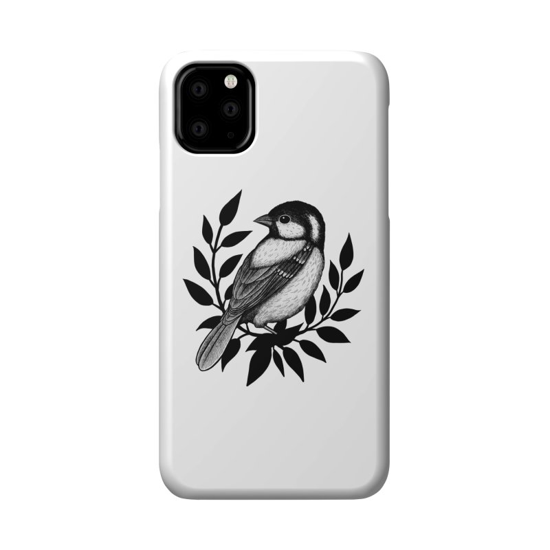 Coal Tit Accessories Phone Case by Thistle Moon Artist Shop