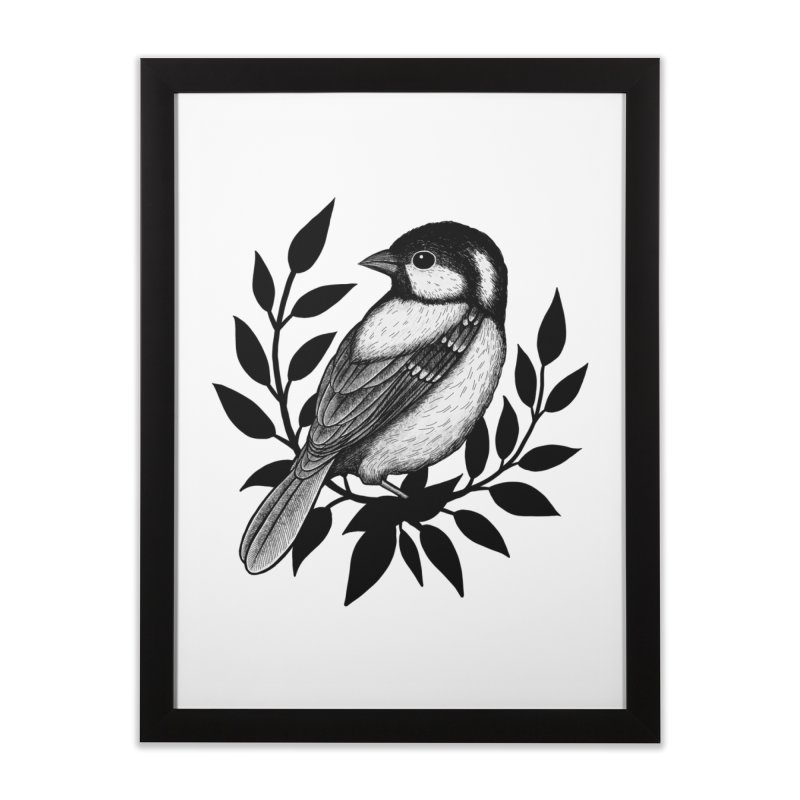 Coal Tit Home Framed Fine Art Print by Thistle Moon Artist Shop