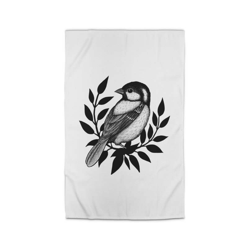 Coal Tit Home Rug by Thistle Moon Artist Shop