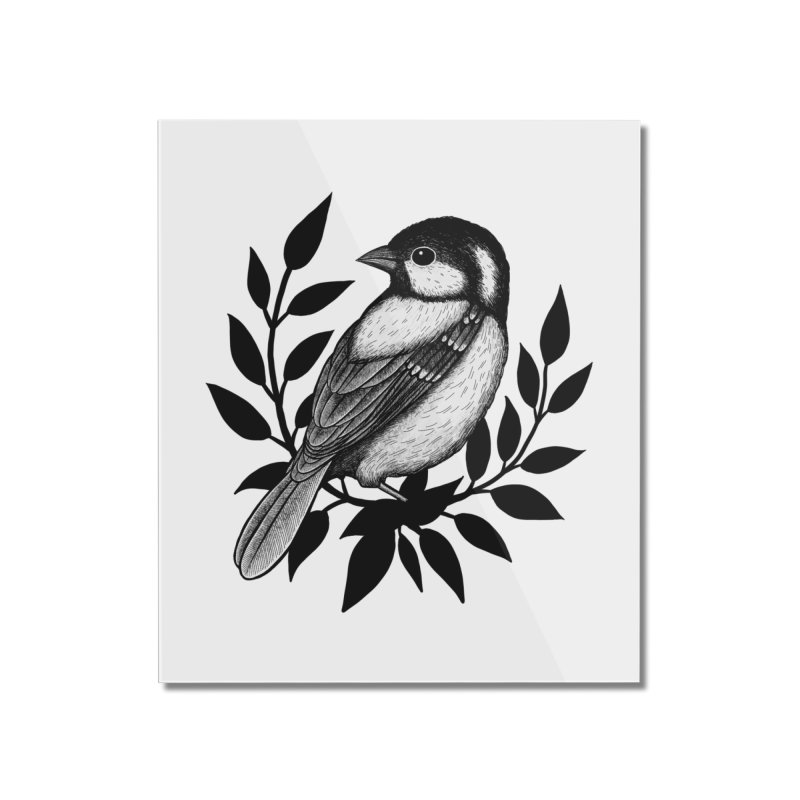 Coal Tit Home Mounted Acrylic Print by Thistle Moon Artist Shop
