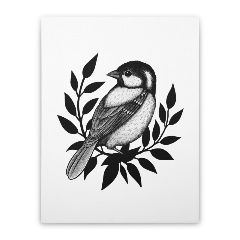 Coal Tit Home Stretched Canvas by Thistle Moon Artist Shop