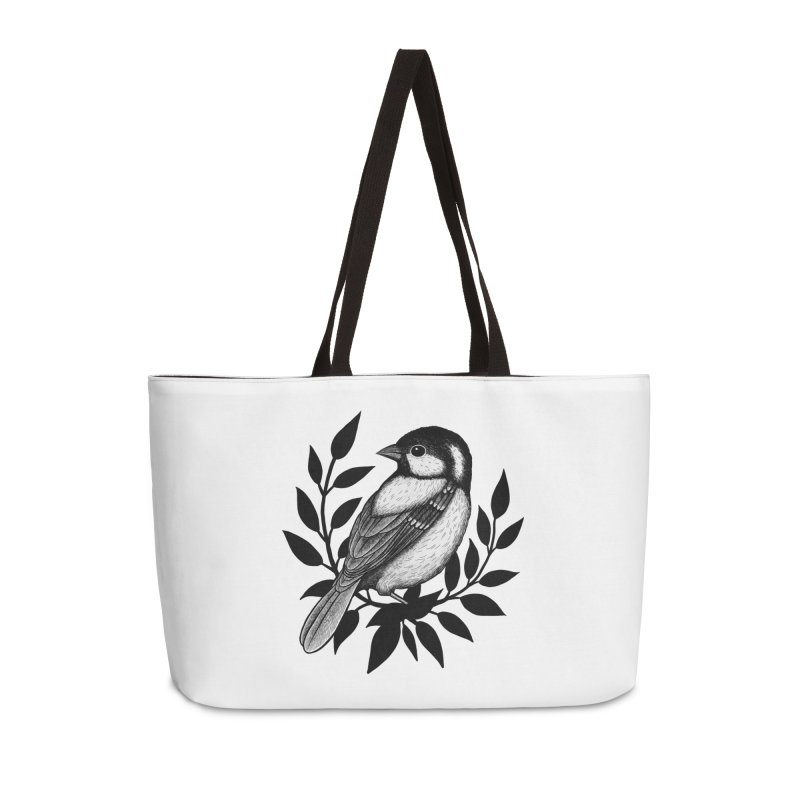 Coal Tit Accessories Weekender Bag Bag by Thistle Moon Artist Shop