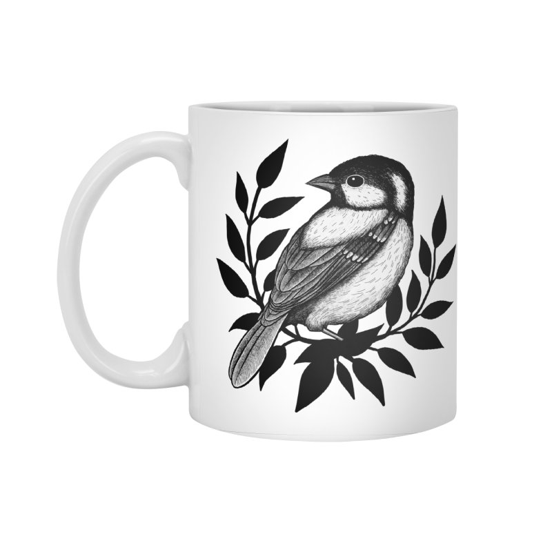 Coal Tit Accessories Standard Mug by Thistle Moon Artist Shop