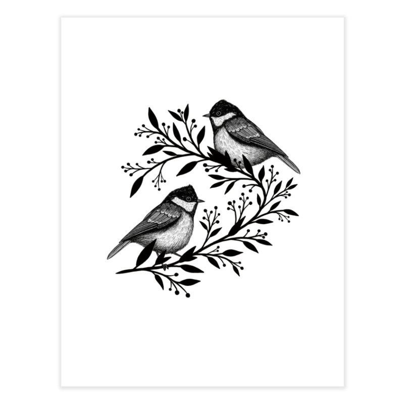 Little Birds Home Fine Art Print by Thistle Moon Artist Shop