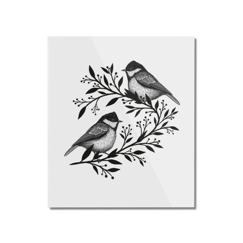 Little Birds Home Mounted Acrylic Print by Thistle Moon Artist Shop