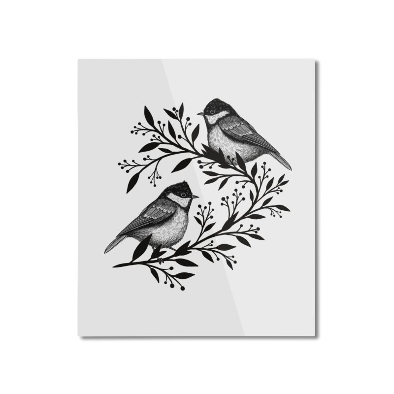 Little Birds Home Mounted Aluminum Print by Thistle Moon Artist Shop