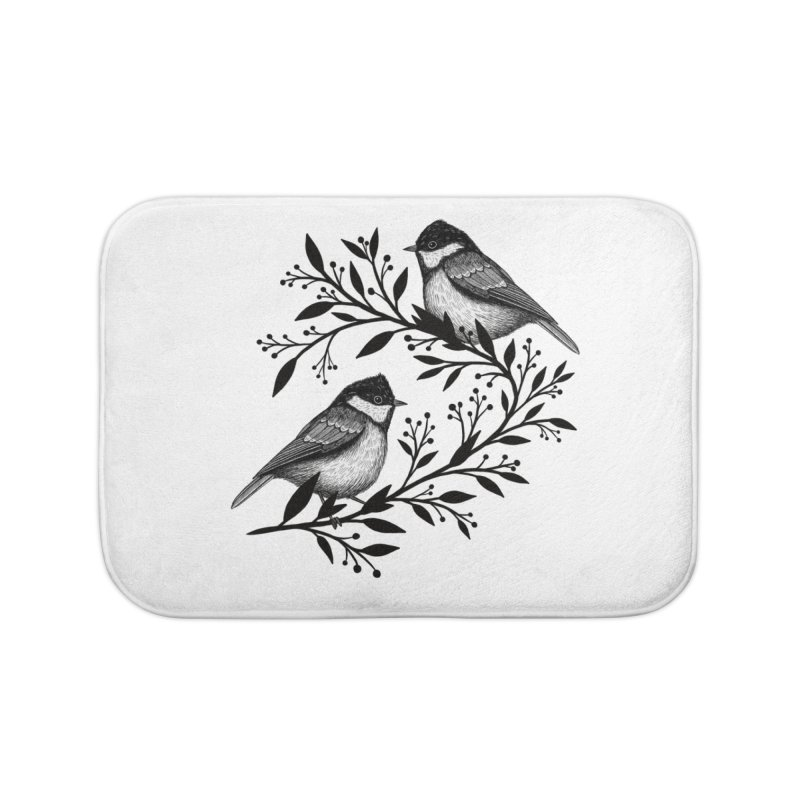 Little Birds Home Bath Mat by Thistle Moon Artist Shop