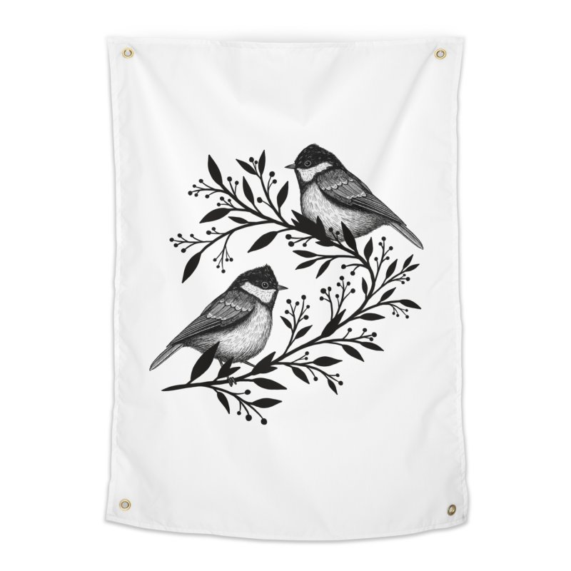 Little Birds Home Tapestry by Thistle Moon Artist Shop