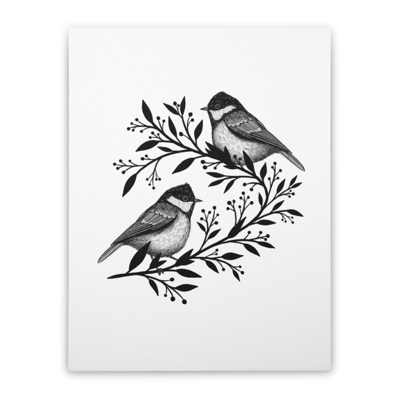 Little Birds Home Stretched Canvas by Thistle Moon Artist Shop