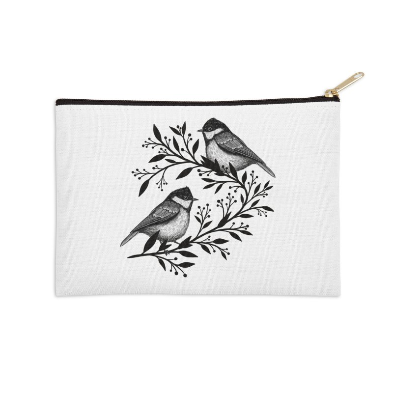 Little Birds Accessories Zip Pouch by Thistle Moon Artist Shop