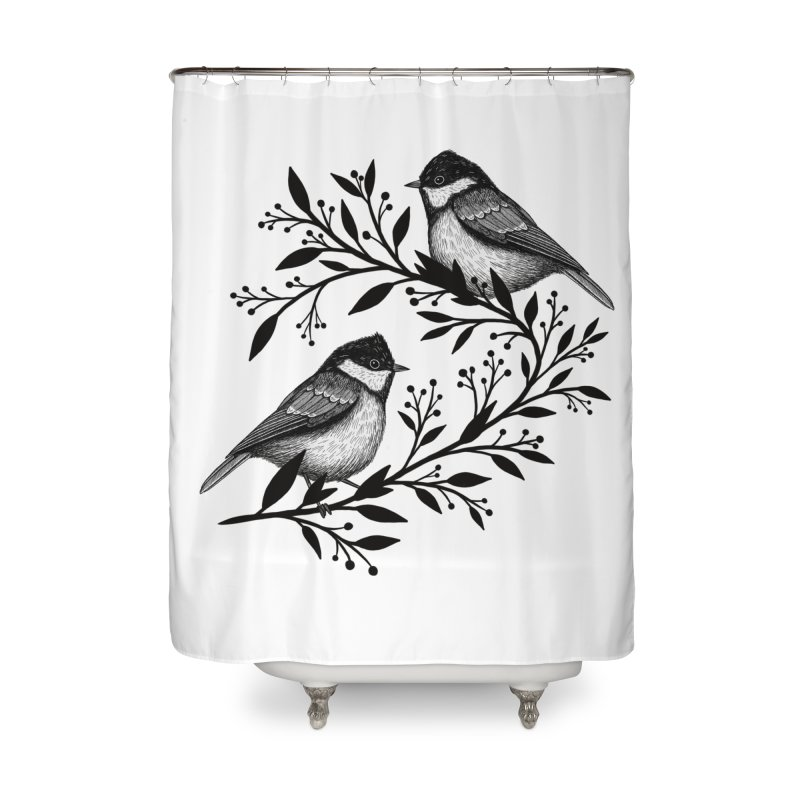 Little Birds Home Shower Curtain by Thistle Moon Artist Shop