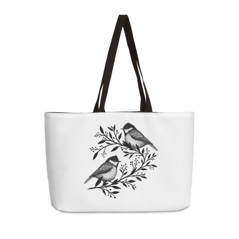 Little Birds Accessories Weekender Bag Bag by Thistle Moon Artist Shop