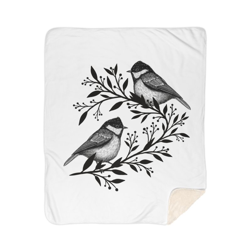 Little Birds Home Sherpa Blanket Blanket by Thistle Moon Artist Shop